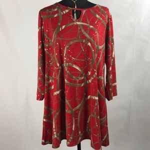 Jostar red and gold tunic size large